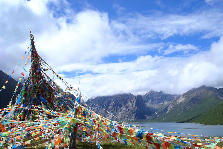Bayan Har Mountains in Qinghai Province
