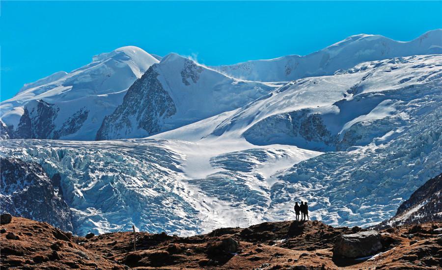 Bujia Snow Mountain in Dêngqên County, Chamdo
