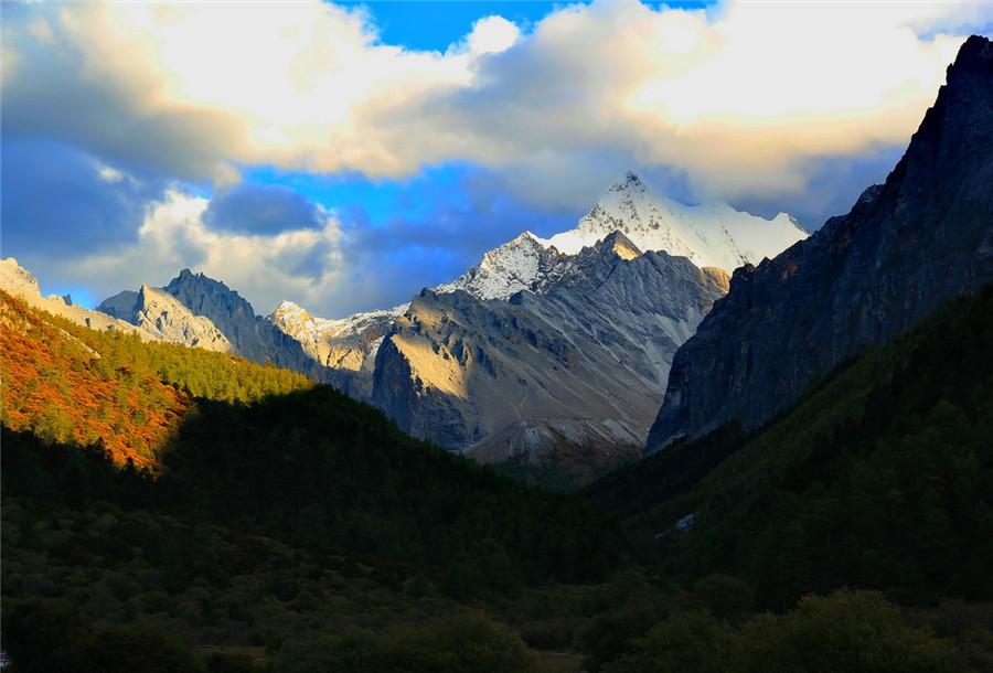 Chanadorje Mountain of Yading Nature Reserve in Daocheng County, Garze