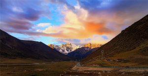 Cho La Mountain Pass in Dege County, Garze
