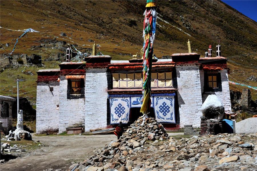 Chokorgyel Monastery in Gyaca County, Lhoka (Shannan)