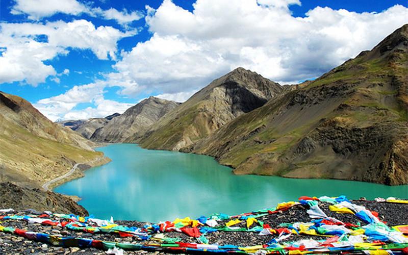 Chusong Reservoir in Bainang County, Shigatse