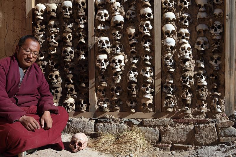 The Skeleton Wall in Biru County, Nagqu