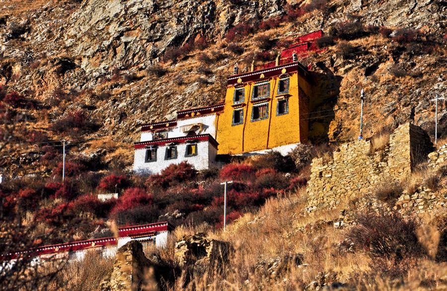 Drak Yerpa Monastery in Dagze County, Lhasa