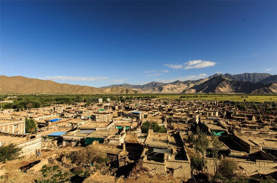 Jiedexiu Town in Gonggar County, Shannan
