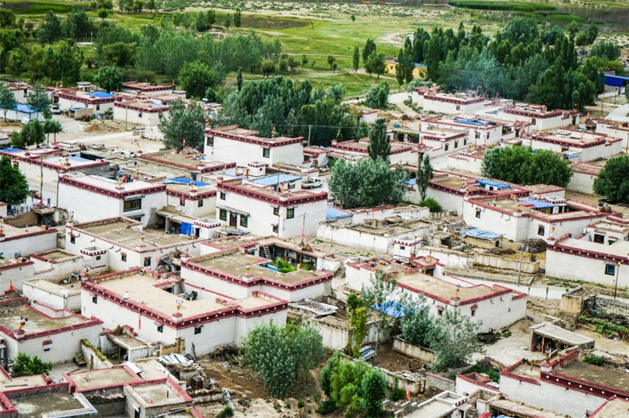 Junba Village in Quxu County, Lhasa