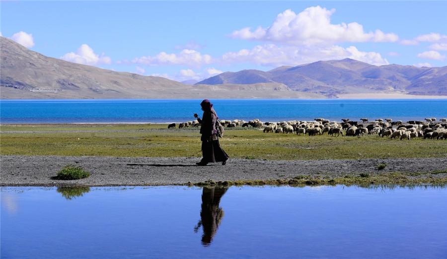 Lake Paiku in Nyalam County, Shigatse