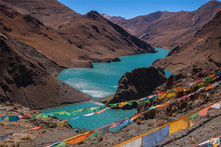 Manak Dam Lake in Lhasa