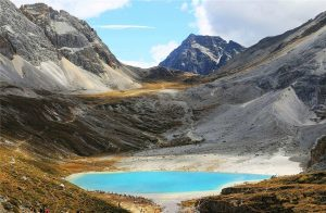 Milk Lake of Yading Nature Reserve in Daocheng County, Garze