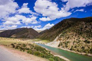 Nujiang River in Tibet