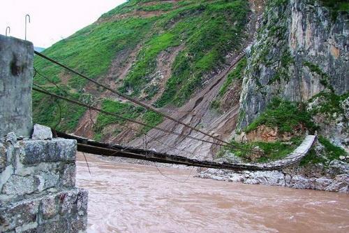Nyêmo Iron Chain Bridge in Nyemo County, Lhasa