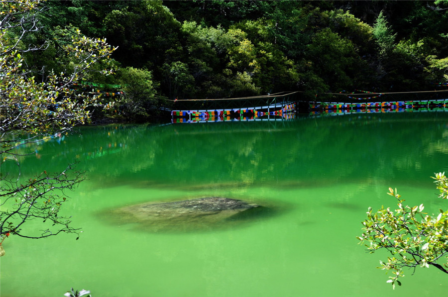 Pearl Lake of Yading Nature Reserve in Daocheng County, Garze