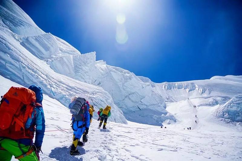 Rongbuk Glacier in Tingri County, Shigatse