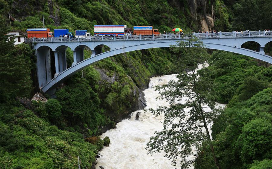 Sino-Nepal Friendship Bridge in Nyalam County, Shigatse