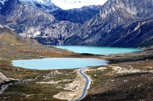 Sisters Lake of Haizi Mountain between Daocheng and Litang Counties, Garze