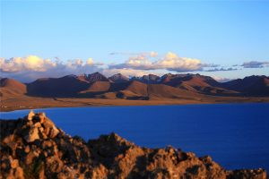 Tashi Dor Island of Namtso Lake in Tibet