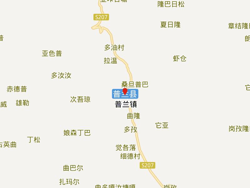 Location Map of Burang County in Tibet