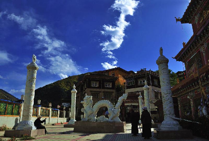 Zera Gompa Monastery in Xinlong County, Garze