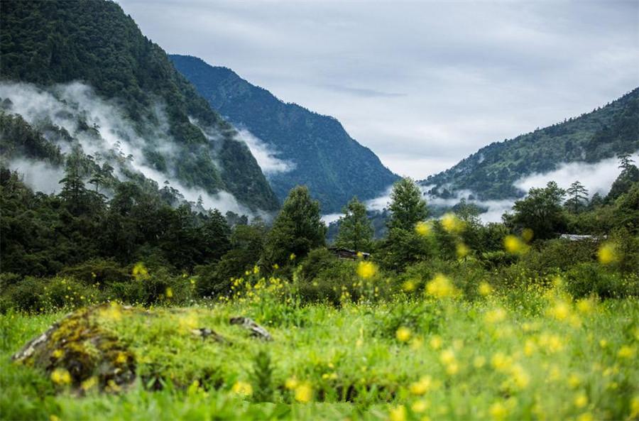 Zhari Mountain in Lhunze County, Shannan
